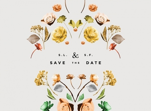 Miss Moss #save #date #invitation #the #flowers