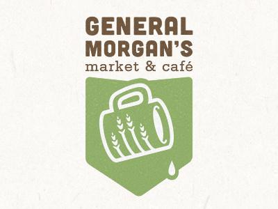 Cafe and Market #mark #vector #identity #symbol #coffee #logo #green
