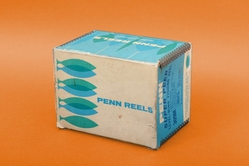 Vintage Peen Reels Packaging #penn #modern #packaging #reels #mid #vintage #century #modernism #blue #fishing