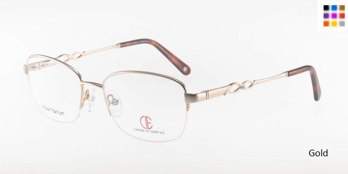 Gold CIE SEC305T Eyeglasses.