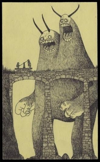 john127.jpg (JPEG Image, 434x700 pixels) #kenn #monsters #john #fra #postits #layout #drawing