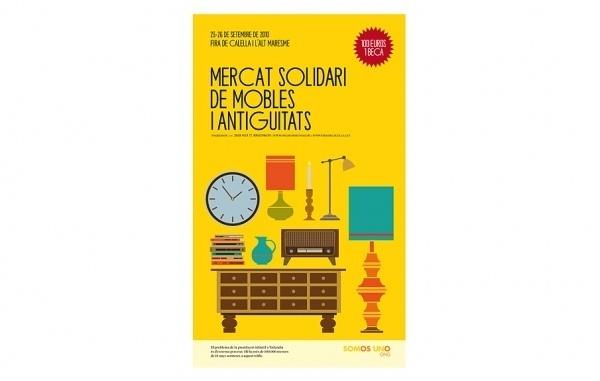 Mercat Solidari…   Ohhh.ws #vector #padilla #yellow #ohhh #illustration #furniture
