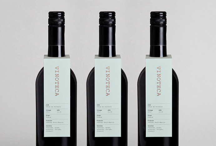 Vinoteca by dn&co #graphic design #print #label #wine