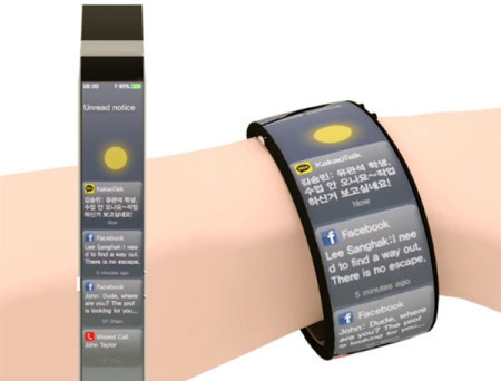 The Watch-Me smart watch is a concept of how future watches may look like - full-body screen, multi-touch operation, and real time environme #design #product #industrial #gadgets #technology