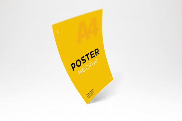 Colorful poster mockup Premium Psd. See more inspiration related to Brochure, Flyer, Poster, Mockup, Business, Template, Brochure template, Leaflet, Colorful, Flyer template, Stationery, Elegant, Poster template, Creative, Booklet, Business flyer and Business brochure on Freepik.