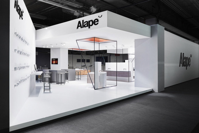 Alape interior exhibition design branding corporate identity copper deluxe geometry by Heine/Lenz/Zizka on Mindsparkle Mag