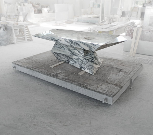Loris, a table hidden in the marble (update) on Behance #furniture #design #marble #michbold