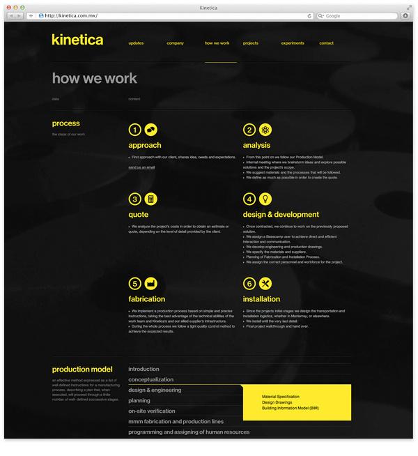 Web4 #yellow #black #minimal #webdesign
