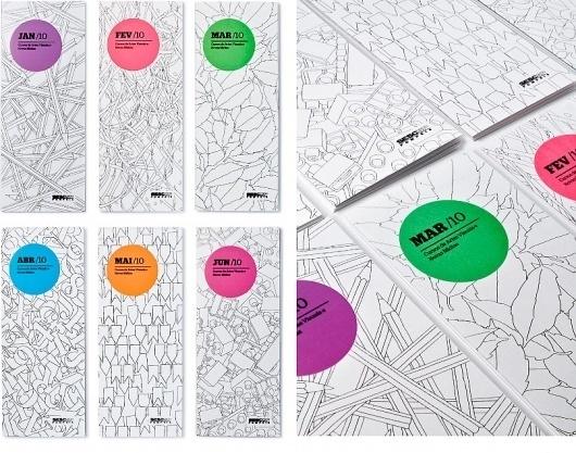 ps.2 arquitetura + design - SESC Programme 2010 - Monthly Brochure #color #grapich #design #illustration #sesc #brazil #folder