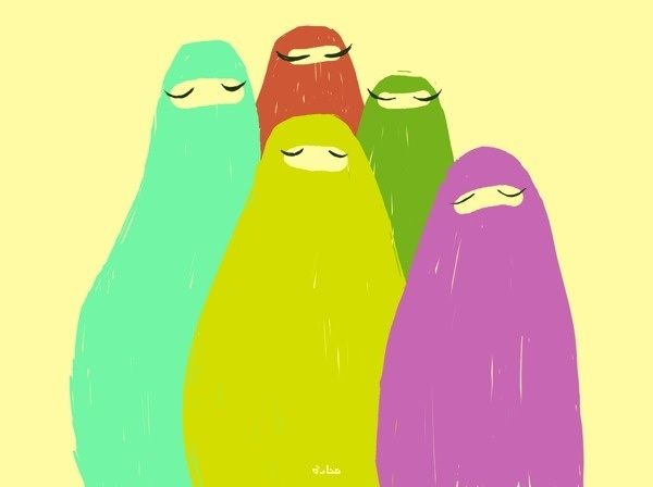 Niqab #red #foxy #yellow #middleeast #women #colorful #purple #niqab #blue #green