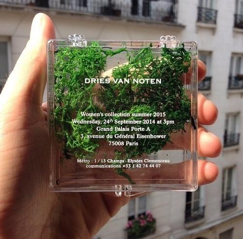 "harinef: messgala: Invites at Dries Van Noten S/S 15 recreated the runway in advance okay i was thinking like ""she's stoned"" lookin #typography"