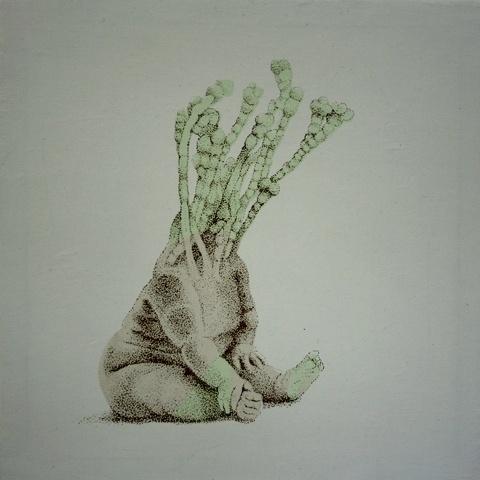 Marta Antoniak #marta #silkscreen #antoniak #hybrid #canvas #drawing
