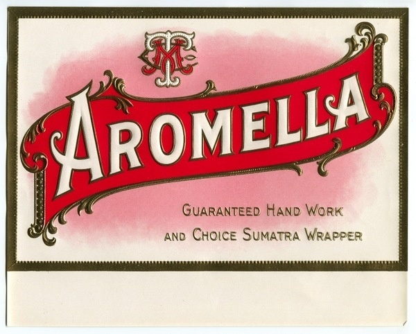 Aromella Label PREVIEW #monogram #cigar #typography