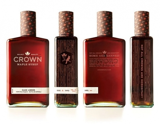 Crown Maple Syrup : Lovely Package . Curating the very best packaging design. #mpls #crown #syrup #packaging #design #graphic #identity #studio #maple