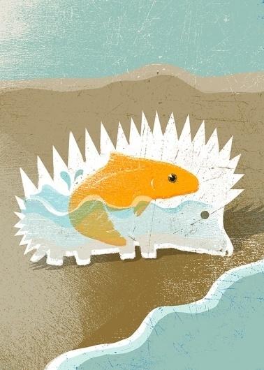Illustration III on the Behance Network #illustration #fish #hedgehog