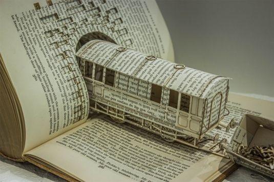 Train Paper Sculpture #sculpture #paper #art