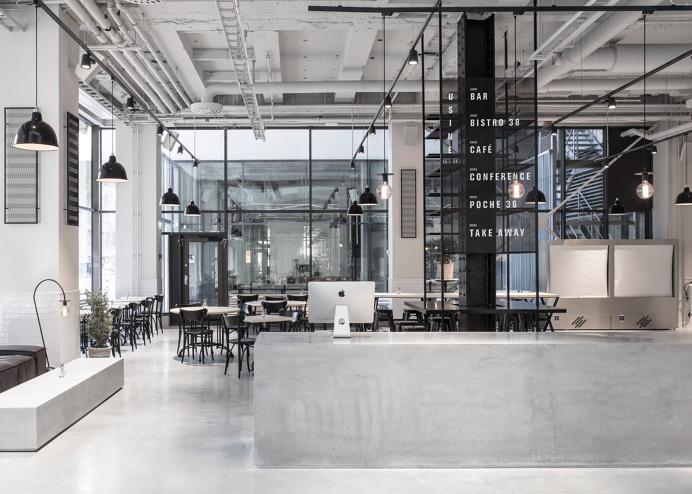 Usine Restaurant by Richard Lindvall #restaurant #interior #Stockholm #concrete