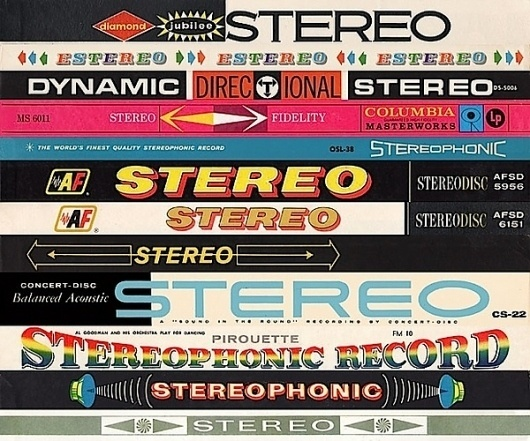 Stereo! on yay!everyday #packaging #print #retro #typography