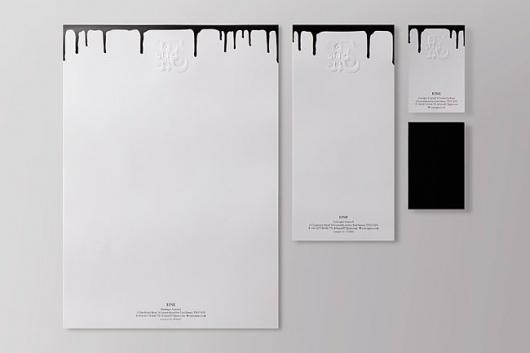 Ben Eine | Identity Designed #emboss #branding #contrast