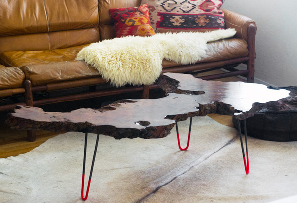 wood knotty table #furniture