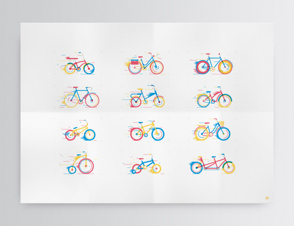 Bicicletas on Behance #illustration