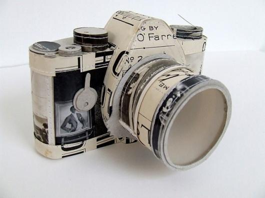 An Artist Who Sews Paper Into 3-D Sculptures | Co. Design #papercraft #camera #paper