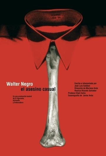 Carteles : Isidro Ferrer #ferrer #huesca #spain #red #theatre #bone #shirt #isidro #poster