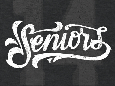 Seniors_shirt #lettering #typography