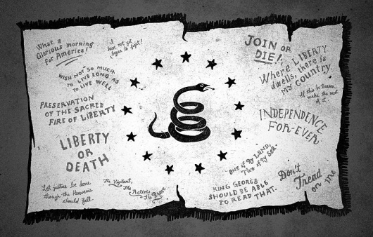MOMENTUS #flag #contino #snake #illustration #gray #momentus