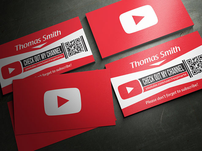 Best freebies free youtube business card images on designspiration free youtube business card psd template cheaphphosting Image collections