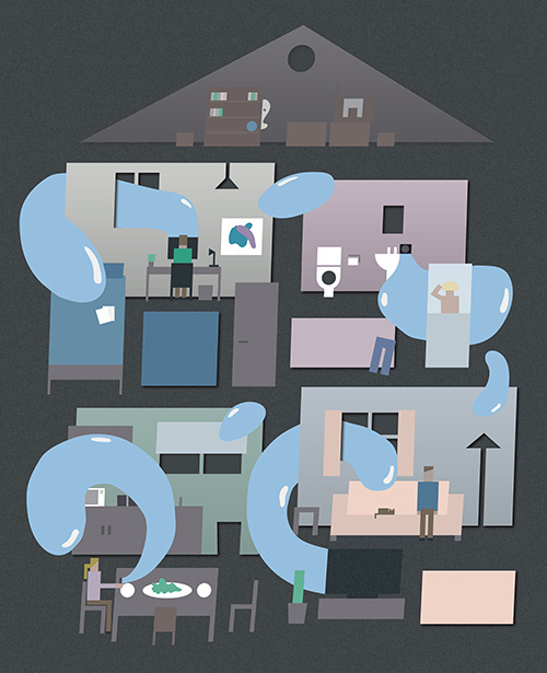 Haunted #family #ghost #house #lifestyle #people #internet #communication #drawing