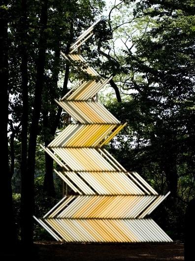 Flame (Gate) : Yochai Matos #matos #installation #fluorescent #art #yochai #light