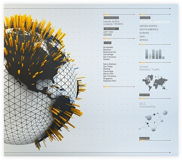 UI › WebGL Infographics on Behance