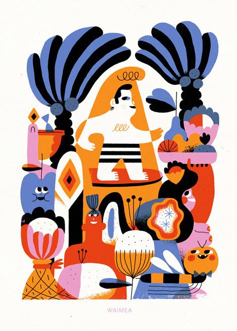 hedof #illustration #colour #hue #palette