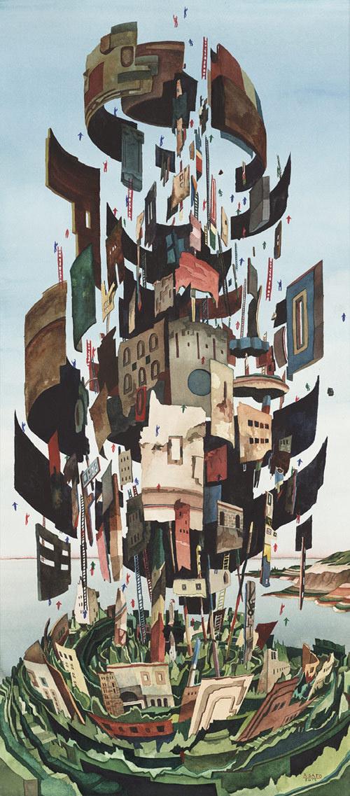 artist painter rob sato #buildings