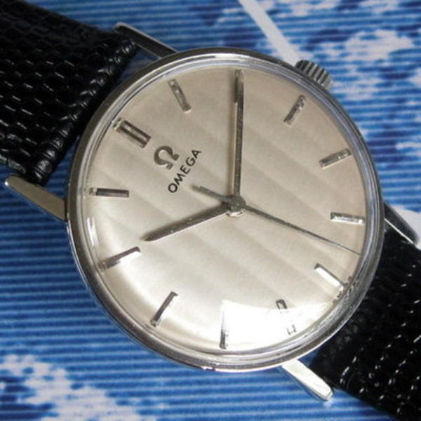 1962 Ridged Dial 600 Caliber Stainless Steel Watch #analog #dial #mechanical #piece #time #watches