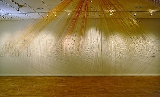 A.C. Rayburn #installation #string #exhibition #art #type