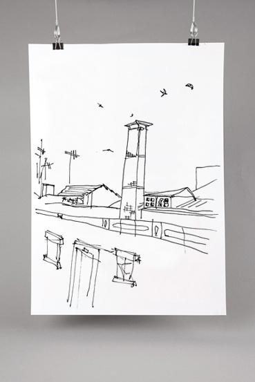 Drawing Madragoa. A popular neighborhood of Lisbon. #drawing #sketche