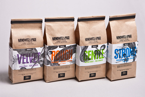 Haenowitz & Page Direct Trade Coffee Roasted Gian Besset #packaging #overlays