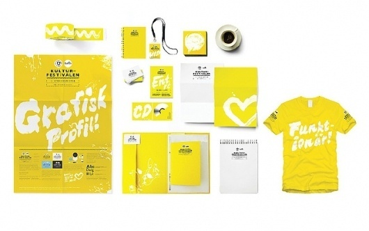 Stockholm Culture Festival Identity | Flickr - Photo Sharing! #snask #yellow #identity #stationary