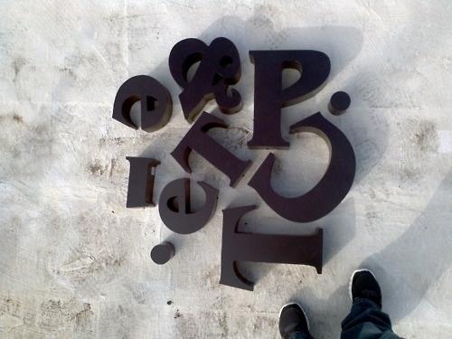   WORK #signage #work #typography
