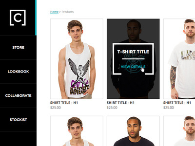 Coup Apparel Product Page #hover #state