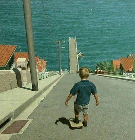 Hill bombing #hill #skateboard #kid #brave