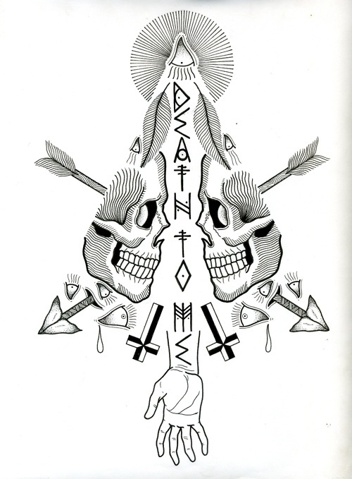 Designersgotoheaven.com Death to me by David M Cook. #cross #skull