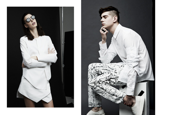 High Contrast Editorial SSENSE #fashion #direction #art #ssense