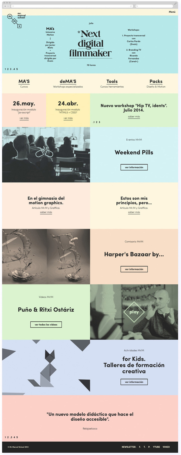 Tata&Friends: Mr. Marcel School Rebrand / on Design Work Life #layout #design #branding