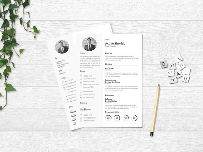 Free Simple Resume Design Template for Job Seeker