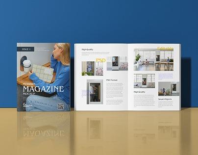 Free Modern Magazine Mockup PSD