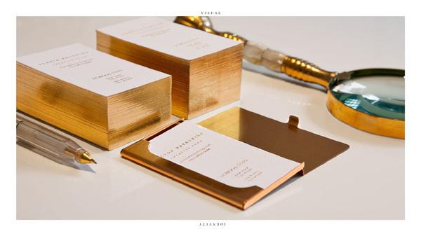 Bruno Tatsumi / School/SS99 #branding #identity #business card #gold