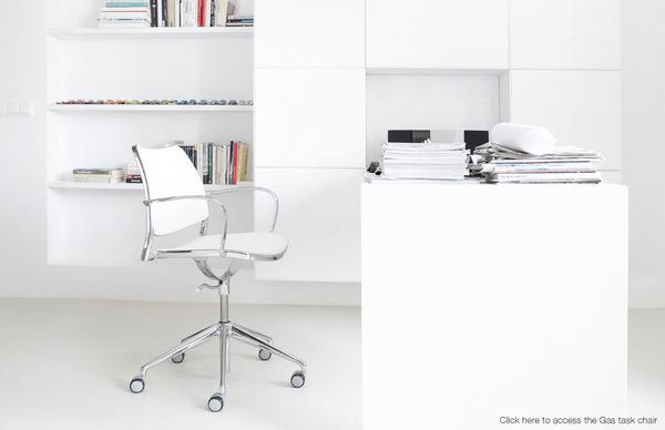 STUA. Gas design task chair with castors #tua #white #design #interiors #furniture
